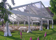 Transparent Wedding Party Tent With Glass Doors , White Tent Wedding Reception