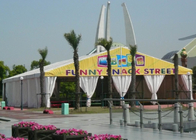 500 People 10 X 20 Outdoor Canopy Party Tent With Sidewalls For Different Activities