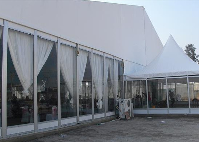 10x20m Glass Wall Large Canopy Tent With Sides Heavy Duty Aluminum Structure