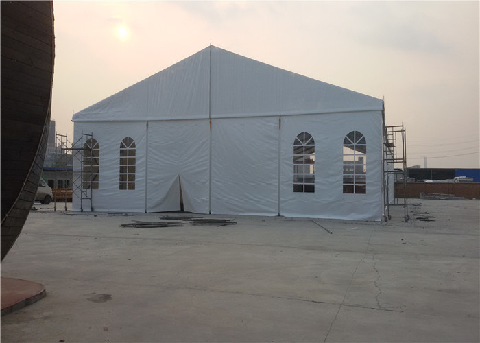 200 Seater White Small Wedding Marquee Party Tent , PVC Commercial Grade Marquee